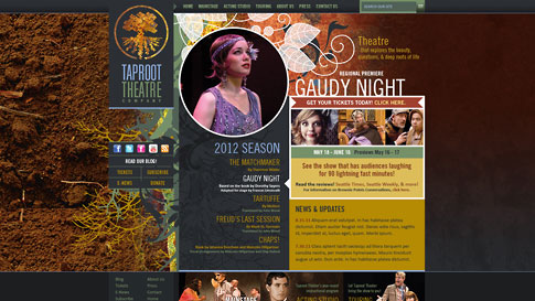 Taproot Theatre Website Redesign